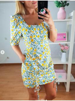 Vestido Limones /Hojas MS-5883