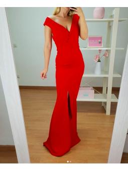 Vestido fiesta rojo sirena...