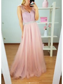 Vestido fiesta tul rosa...