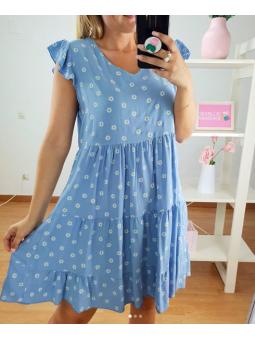 Vestido corto azul celeste...