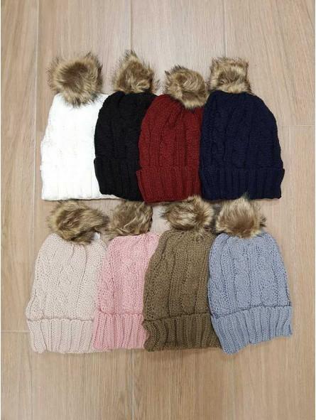 2eb3c928c82 Gorro de lana pompón