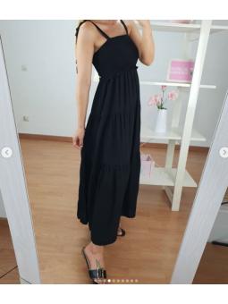 Vestido Negro Abril panal...
