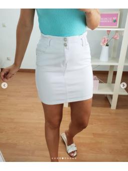 Falda tejana blanca F-1756