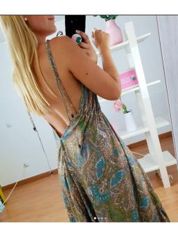 Vestido largo tonos...