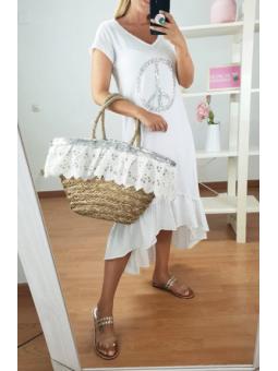 Vestido blanco símbolo paz...
