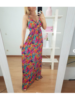 Vestido Tropical flores...