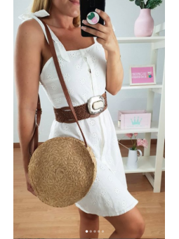 Vestido Blanco  Aura F963