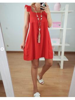 Vestido Sarah Rojo tirante...