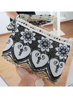 Bolso/cartera paja y crochet