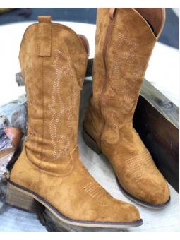 Bota marron cowboy