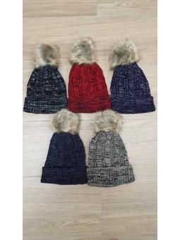 Gorro jaspeado lana