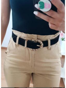 Cinturón Negro hebilla...