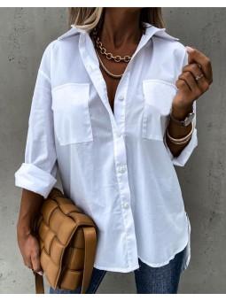 Camisa blanca bolsillos Praga