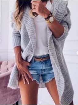 Chaqueta lana gris Vega