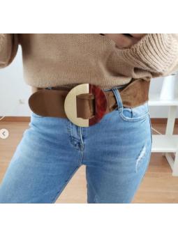 Cinturón marrón antelina...