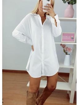 Vestido/camisa Blanco 13701