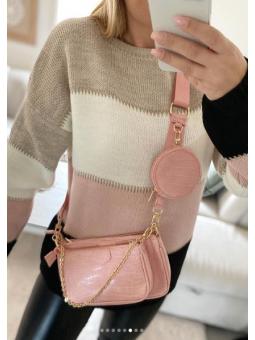 Bolso triple rosa Coco