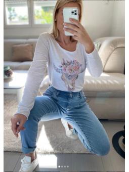 Camiseta búfalo flores