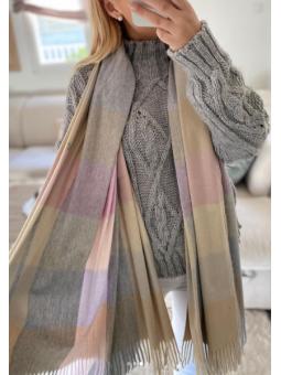 bufanda tonos pastel