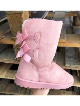 Botas lazos rosa pelito...