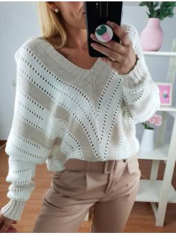 Suéter Valentina pico  y...