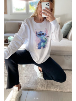 Sudadera Blanca Stitch