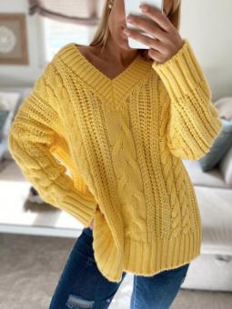 Suéter Celina Amarillo nudos