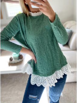 Suéter Verde detalle...