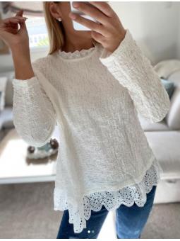 Suéter Blanco detalle...