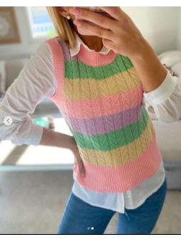 Chaleco arcoíris multicolor