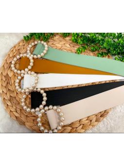 Cinturón perlas circular