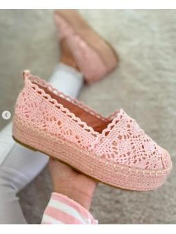 Espardeña croché rosa (5135)