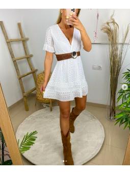 Vestido corto Ibiza encaje...