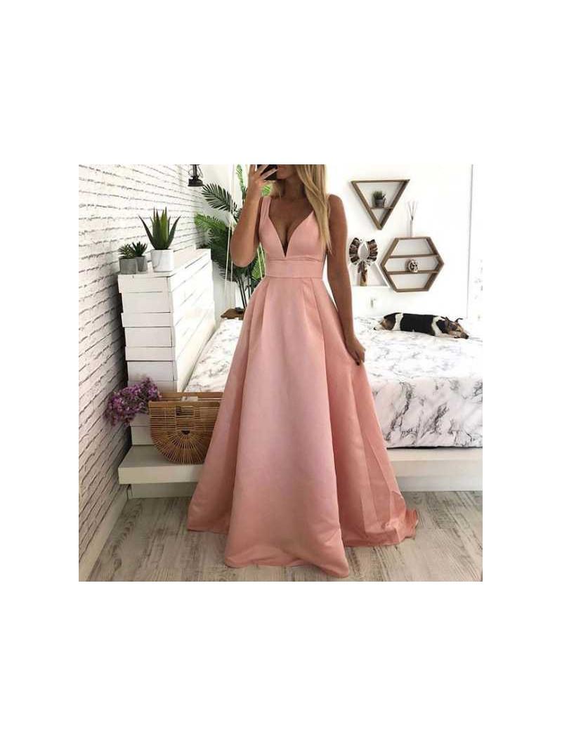 Vestido fiesta rosa liso