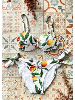 Bikini fondo Blanco flore...