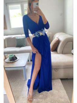 Vestido Azul klein Nudo en...