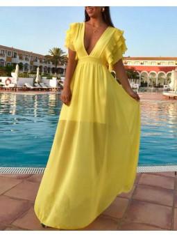 Vestido Creta amarillo