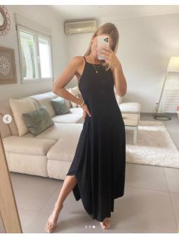 Vestido largo negro tirante...
