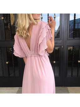 Vestido Creta rosa
