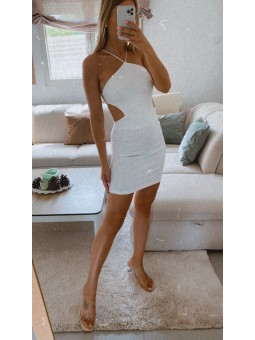 Vestido blanco espalda...