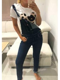 Peto vaquero // Camiseta Minnie leopardo lacito