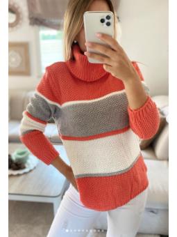 Suéter lana cuello vuelto...
