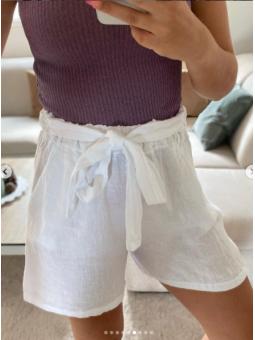 Pantalon Blanco lino lazada