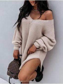 Suéter/vestido oversize...