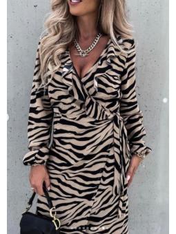 Vestido estampado Cebra...