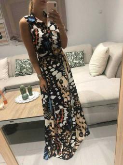 Vestido largo estampado Thai