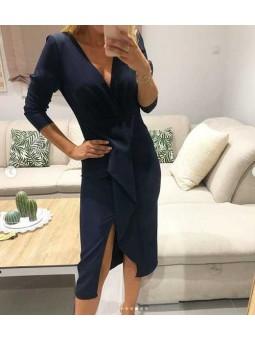 Vestido azul marino fiesta corto