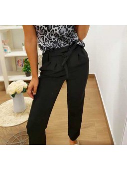 Pantalón lazada negro