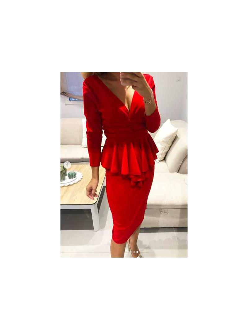 Vestido fiesta corto rojo pliegues cintura
