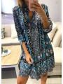 Vestido camisero tonos azules
